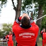Fireman warming up, Ismit, Turkey
