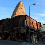 Fairy tower and carpet shop, Goreme, Turkey