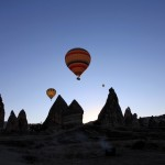 Balloons over Rose Valley, Cappadocia, Turkey