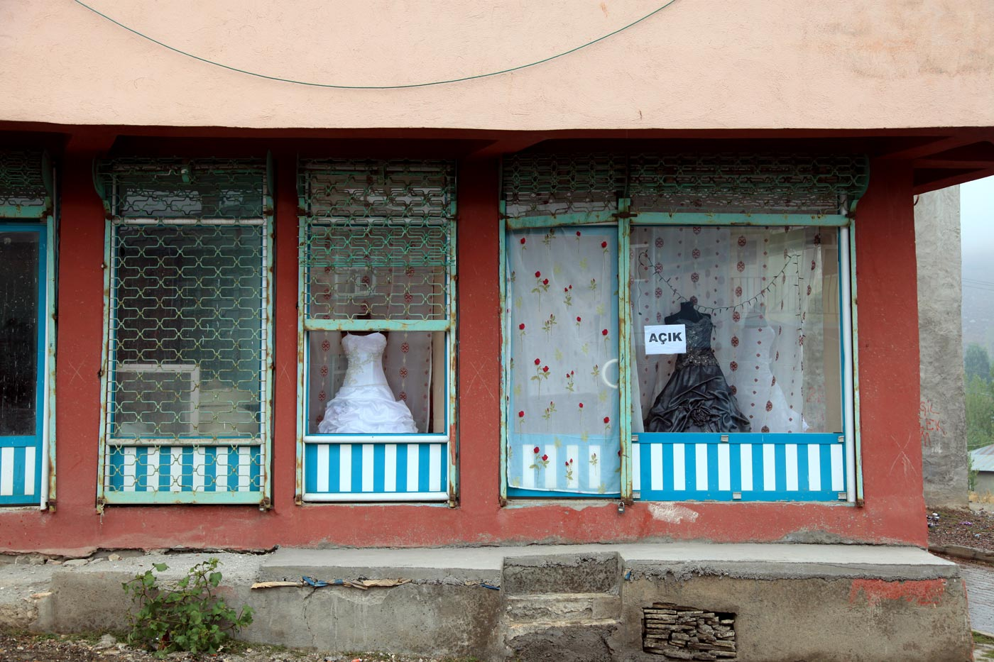 Wedding dress shop, Karliova, Turkey
