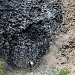 Honeycomb basalt formations at Dimmuborgir, Iceland