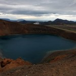 The caldera at Krafla, Iceland