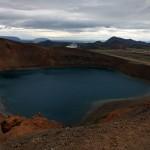 The caldera at Krafla, Iceland