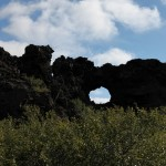 Volcanic formations at Dimmuborgir, Iceland