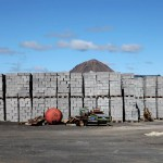 Cinder block factory at Krafla, Iceland