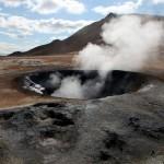 Steaming mud pots at Namafjall, Iceland