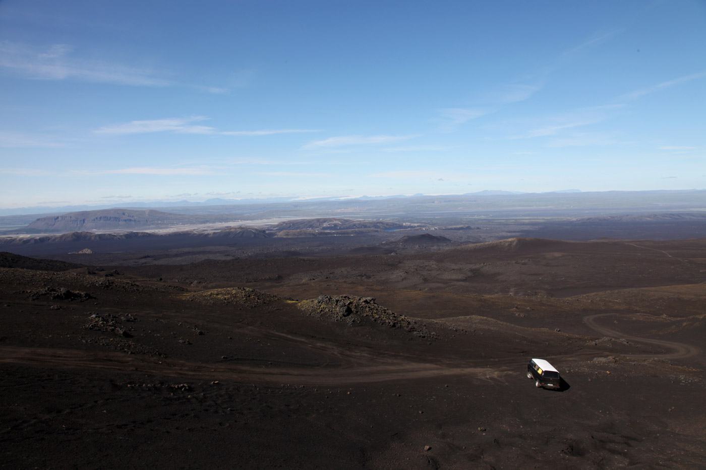 The view from Hekla, Iceland