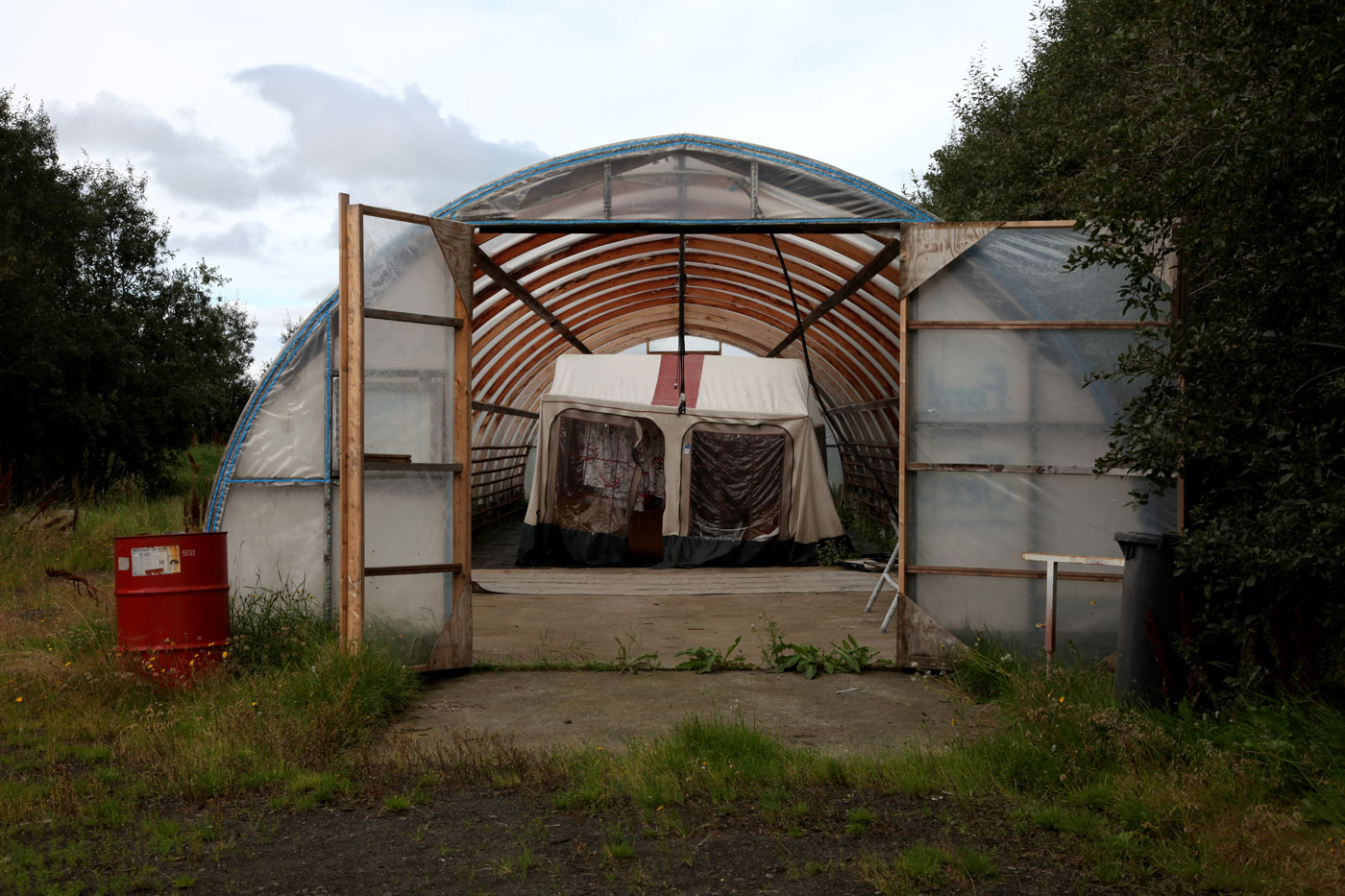 Accommodation for tomato pickers at Fluoir, Iceland