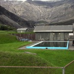 Swimming pool at the foot of  Eyjafjallajokull, Iceland