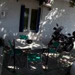 A visitor calls, Xiropigado, Greece
