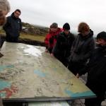 Studying the map at Thingvellir, Iceland
