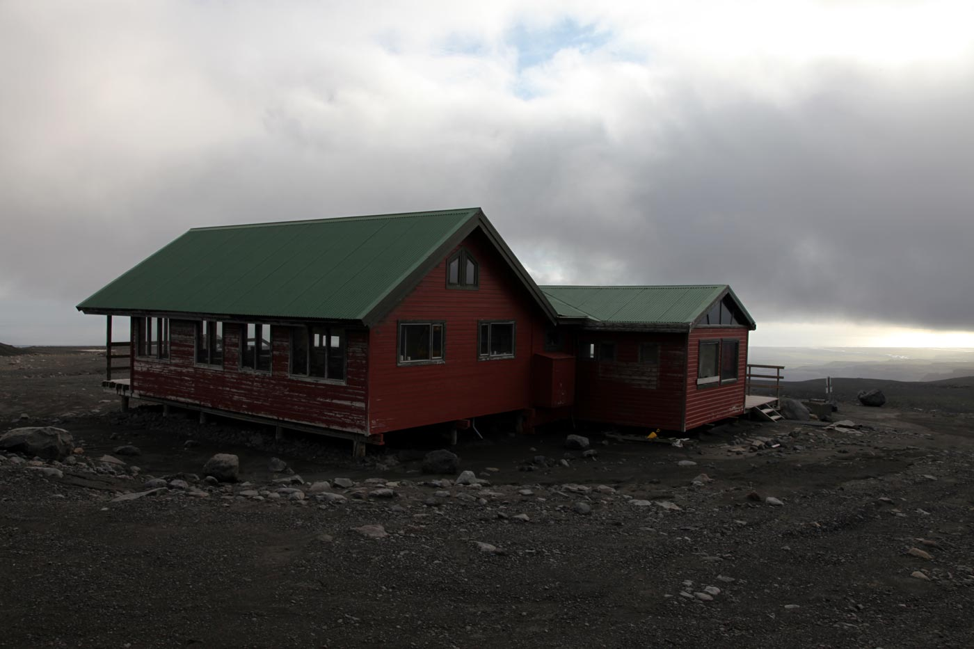 The mountain rescue hut at the top of Katla, Iceland